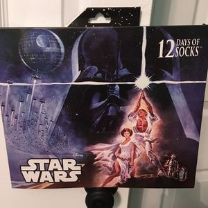 NEW Star Wars box of 12 days of socks ADULT size
